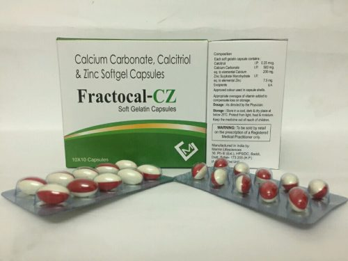 Calcium Carbonate Calcitriol & Zinc Softgel Capsules