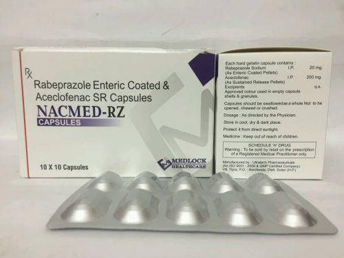 Rabeprazole Enteric Coated & Aceclofenac SR Capsulese